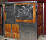 00350308 Kuchnia na węgiel z piekarnikiem 8kW (plyta grzewcza na górze)