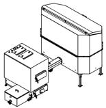06652966 Automatyczny zestaw do spalania biomasy 2m3 230V 60kW, głowica: żeliwna, bez systemu usuwania popiołu (paliwo: trociny, wióry, zrębki, kora, brykiet, agrobrykiet, pellet, pestki owoców)