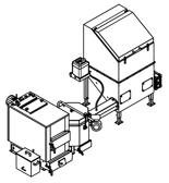 06653046 Automatyczny zestaw do spalania biomasy 0,6m3 400V 30kW, głowica: ceramiczna, z systemem usuwania popiołu (paliwo: trociny, wióry, zrębki)