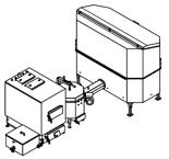 06653062 Automatyczny zestaw do spalania biomasy 2m3 400V 50kW, głowica: ceramiczna, z systemem usuwania popiołu (paliwo: trociny, wióry, zrębki)