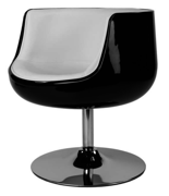 99850989 Fotel obrotowy Cognac (kolor: czarny/biały)