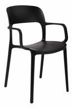 99854321 Krzesło z podłokietnikami Flexi (kolor: czarny)