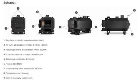 Piec nadmuchowy z nadmuchem 40-45kW wentylator + sterownik 99669590