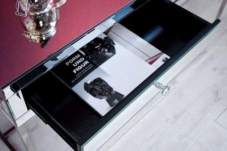 DOSTAWA GRATIS! 11260690 Stylowa toaletka Level (kolor: srebrny, jasne szkło)