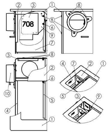 DOSTAWA GRATIS! 22774566 Kuchnia, angielka 6,5kW TK2-610 zwykła bez termometru, bez płaszcza wodnego (kolor: kremowy) - spełnia anty-smogowy EkoProjekt