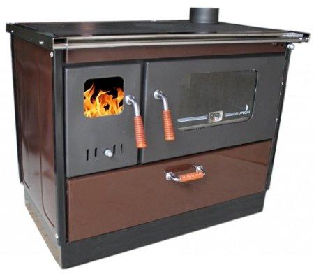 DOSTAWA GRATIS! 27765712 Kuchnia wolnostojąca, angielka na drewno 9,6-10,6kW, bez płaszcza wodnego (kolor: ciemny brązowy)