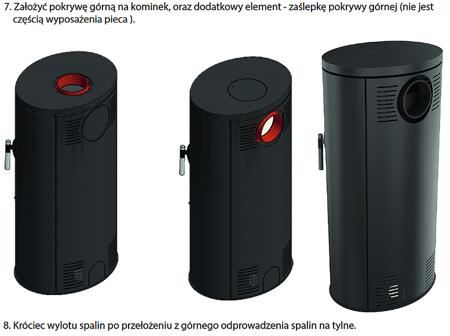 DOSTAWA GRATIS! 30055006 Piec wolnostojący koza 8kW AB GLASS (z panelami kaflowymi - czerwony) - spełnia anty-smogowy EkoProjekt