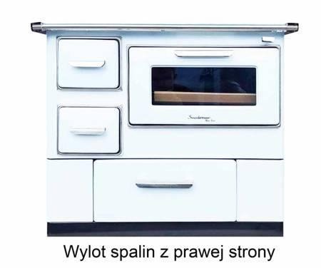 DOSTAWA GRATIS! 50066964 Kuchnia węglowa, angielka z piekarnikiem 9,5-16kW na drewno i węgiel, bez płaszcza wodnego (kolor: biały)