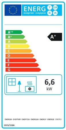 DOSTAWA GRATIS! 88855039 Piec wolnostojący La Nordica 6,6kW Tea (kolor: biały) - spełnia anty-smogowy EkoProjekt
