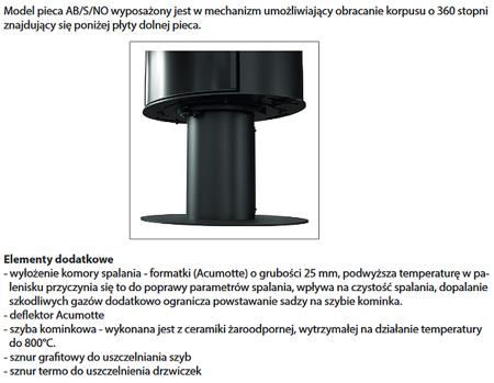 KONS Piec wolnostojący koza 10kW AB (z panelami kaflowymi - czarny) - spełnia anty-smogowy EkoProjekt 30065534