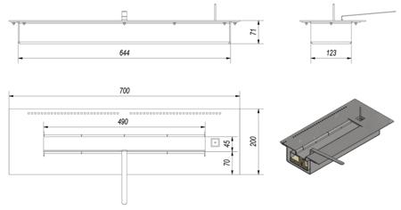 KONS Pojemnik do biokominka SPARK (pojemność: 1,5 L) 30060626