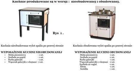 Kuchnia, angielka 9,2kW KATARZYNA, Jawor z wężownicą + druga wężownica gratis (kolor: brązowy) 25977148