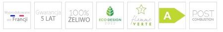 Piec wolnostojący Invicta 7kW Seville (wylot spalin: góra, kolor: emalia kremowa) - spełnia anty-smogowy EkoProjekt 86865695