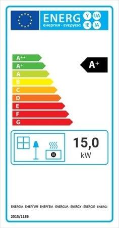 Wkład kominkowy 15kW MBO BS (lewa boczna szyba bez szprosa) - spełnia anty-smogowy EkoProjekt 30046765